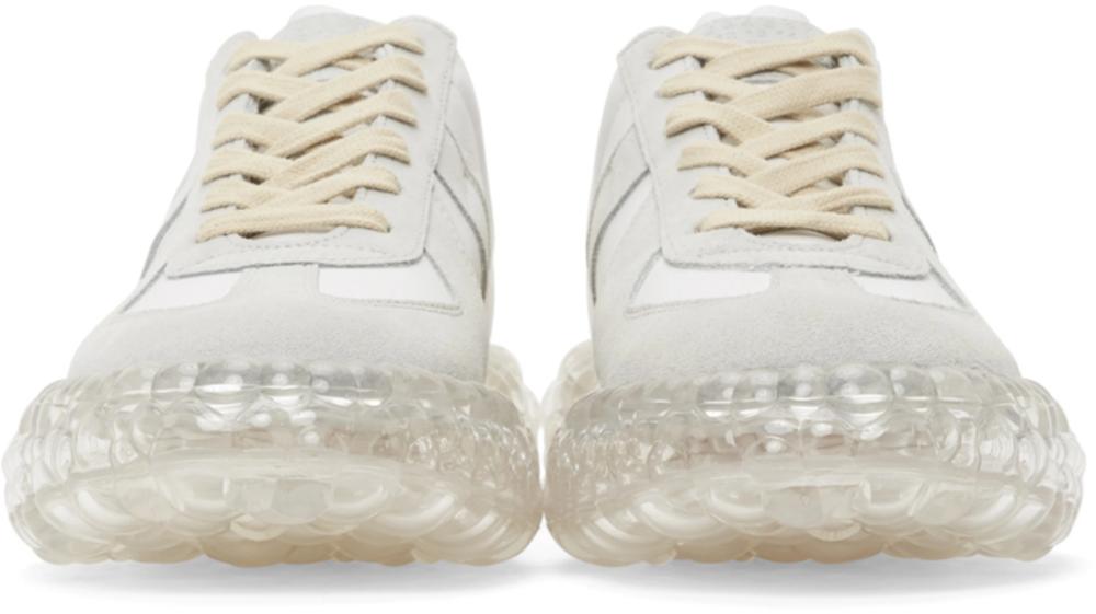 White \u0026 Grey Caviar Replica Sneakers