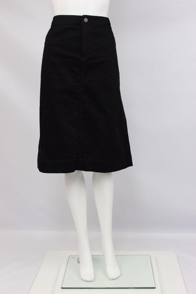 Lauren Jeans Co Ralph Lauren Womens Size 10 Black Straight Stretch Denim Skirt #LaurenJeansCo #StraightPencil