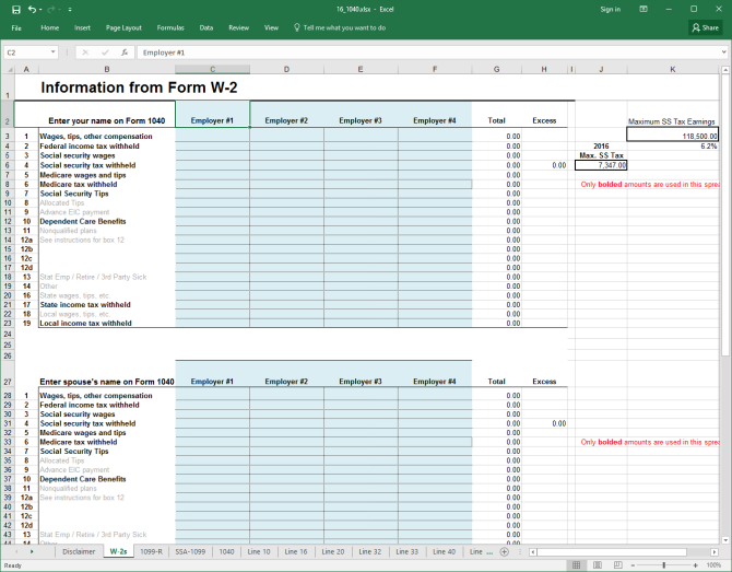 Turn Excel Into A Tax Calculator With These Templates  Calculator