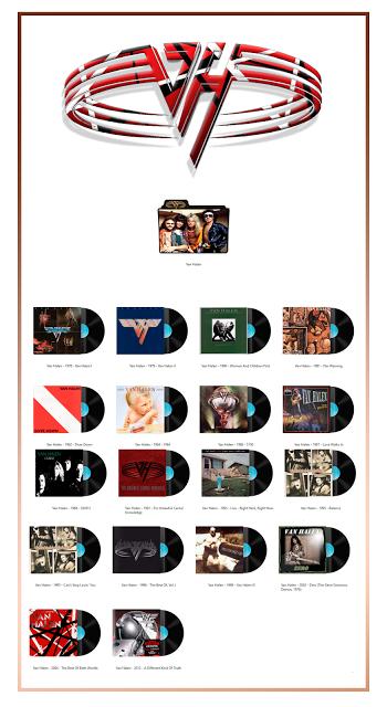 Van Halen Discography Folders (ICO & PNG) Rock band