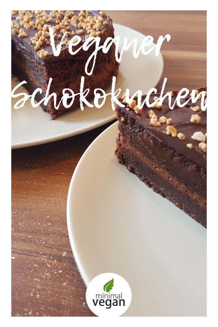 Rezept für veganen Schokoladenkuchen mit Mousee und Krokant – lecker – vegan / … – vegan Backen