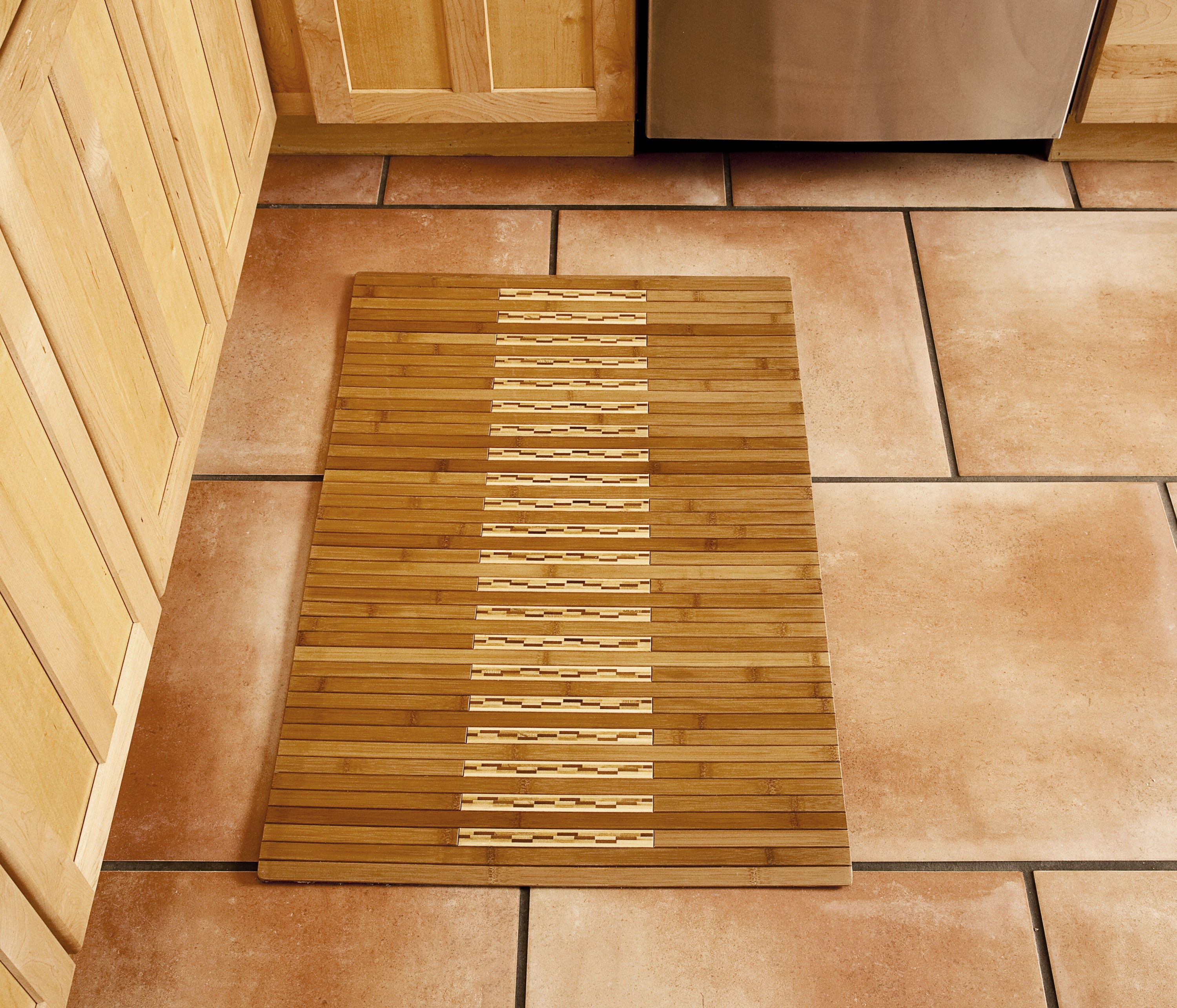 Bamboo Kitchen Bath Mat Natural X Bamboo Mats Have - Rubber backed bath mats for bathroom decorating ideas