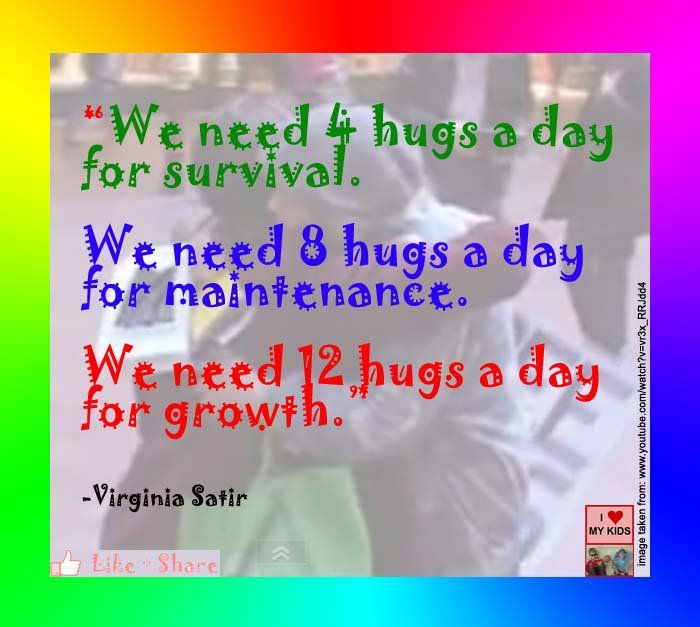 """hugs quote """"I love my kids"""" on fb:  http://on.fb.me/qgngmh"""
