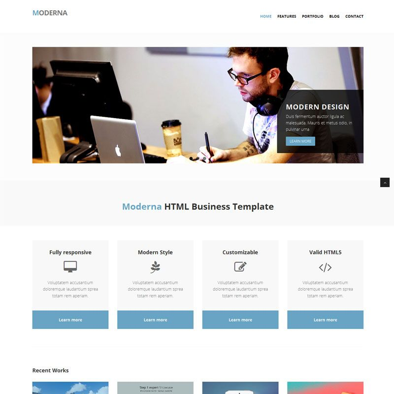 Bootstrap template for corporate moderna bootstrap theme beginning a new week we collect 12 best free bootstrap business templates all these templates are designed with the latest trends of web design and packed fbccfo Gallery