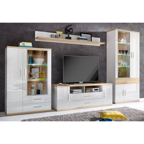 Meuble TV 2 tiroirs, 2 portes + 2 niches Tv living rooms, Salons