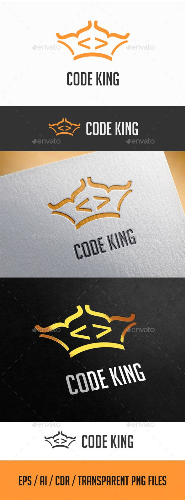 Code King Logo Template Logo Templates Logo Design Template Logos