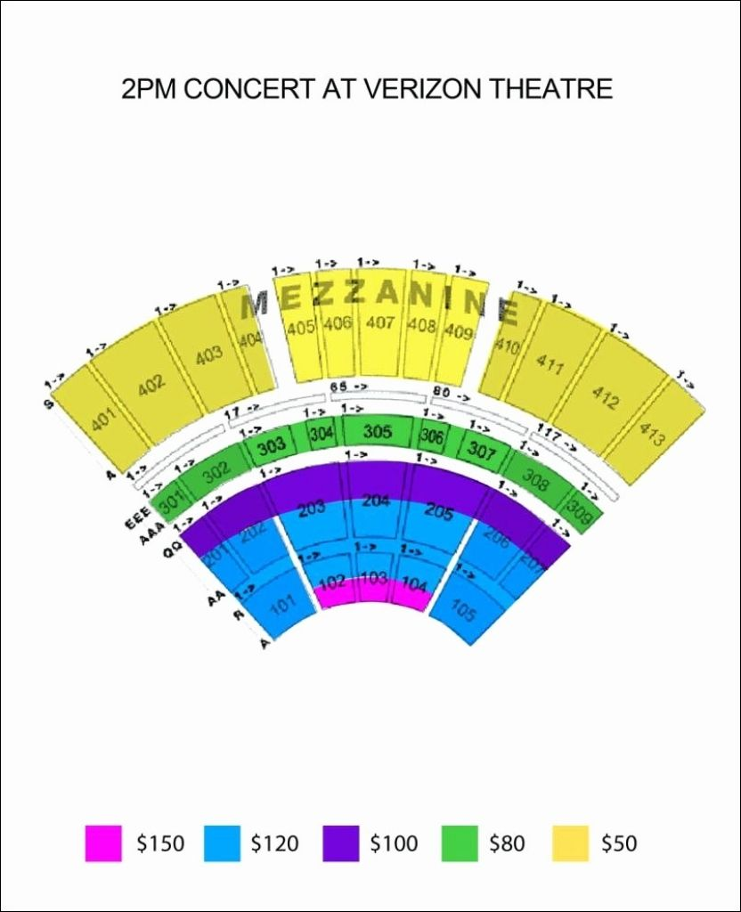 Verizon Theatre Seating Chart With Seat Numbers Di 2020