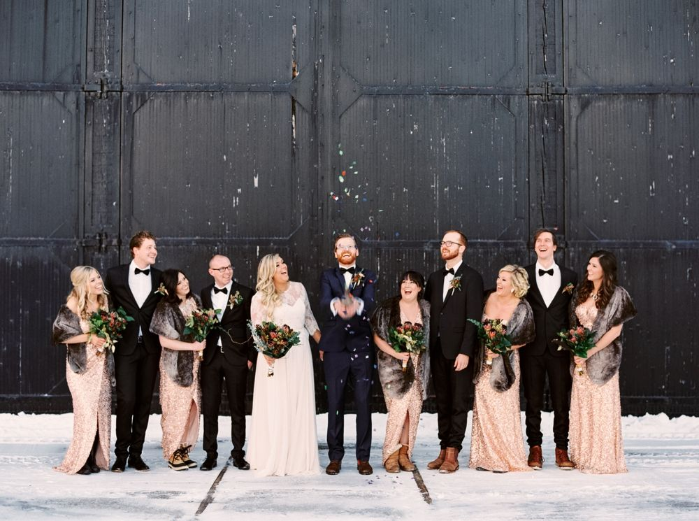 Calgary Wedding Photographers | New years Eve Wedding | Heritage Park guns Dairy…