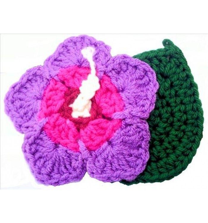 Crochet Pattern Gl PDF file for Hibiscus Flower & Leaf Coasters ...