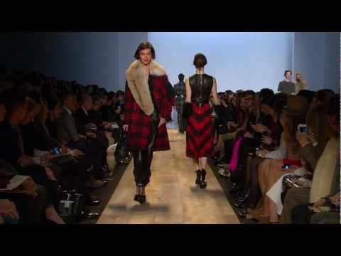 #NYFW Michael Kors Runway Show! - I would give my eye teeth for just one piece for my daughter - BEAUTIFUL - love the plaid and all the red...