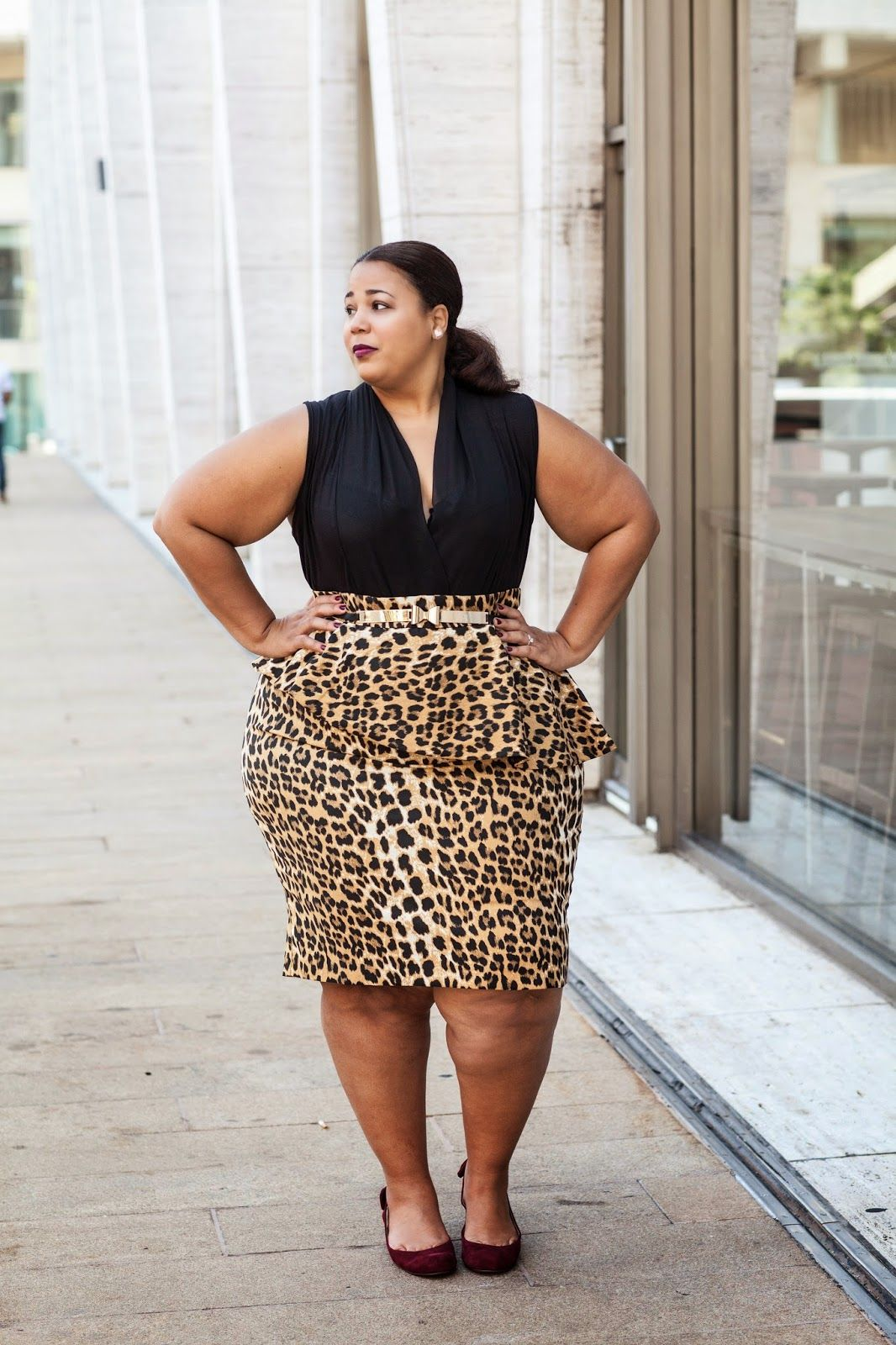 04bf170bd77 Blogger Chastity Garner Valentine in an Ashley Stewart look ...