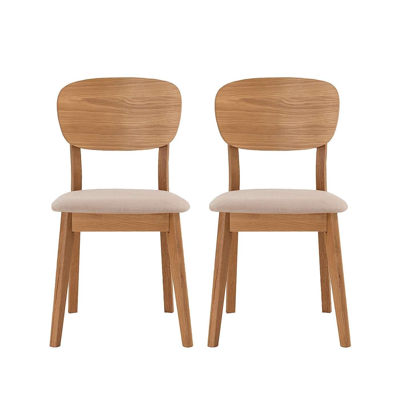 Room Skandi Oak Pair Of Chairs