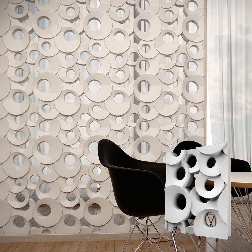 Ring Set Of 2pcs 3d Decorative Wall Block Panels Abs Plastic Mold For Plaster Ebay Wall Panel Molding Plastic Molds Decor