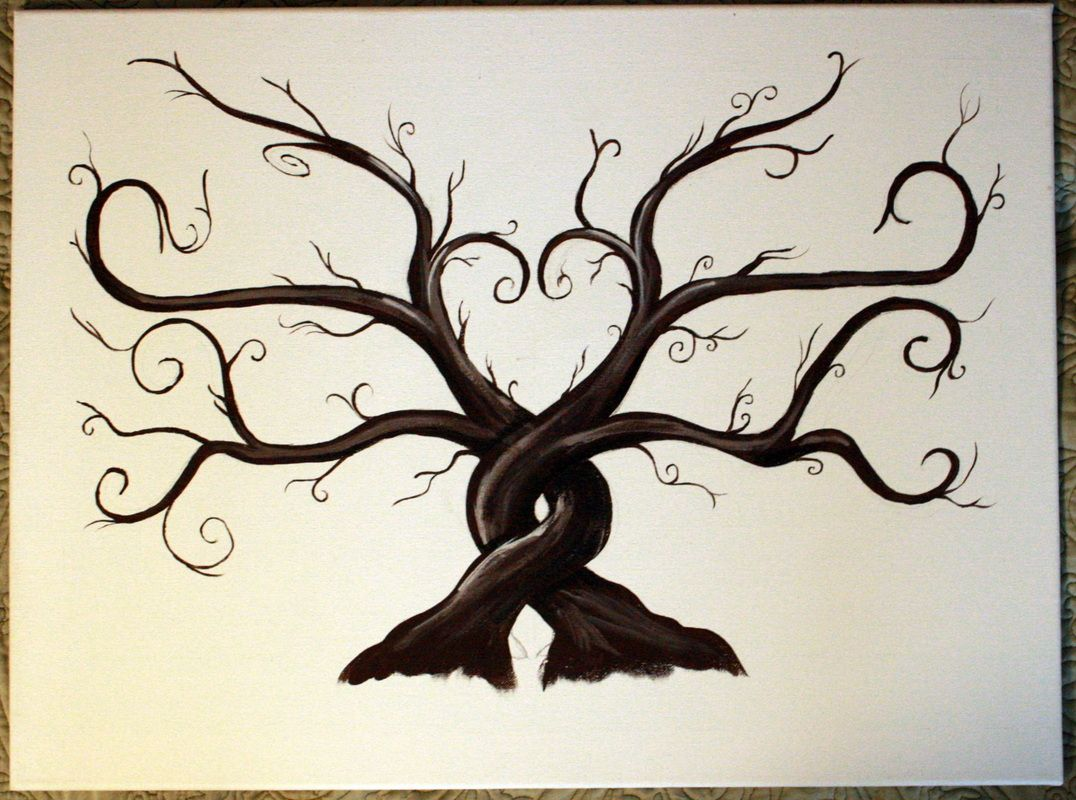 Thumbprint Tree; Two Intertwined Trees Family tattoos