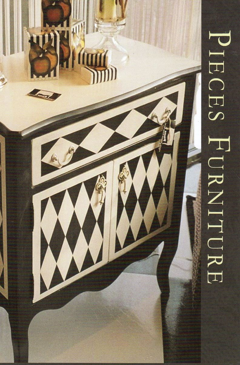 Black And White Geometry By Pieces Hand Painted Furniture
