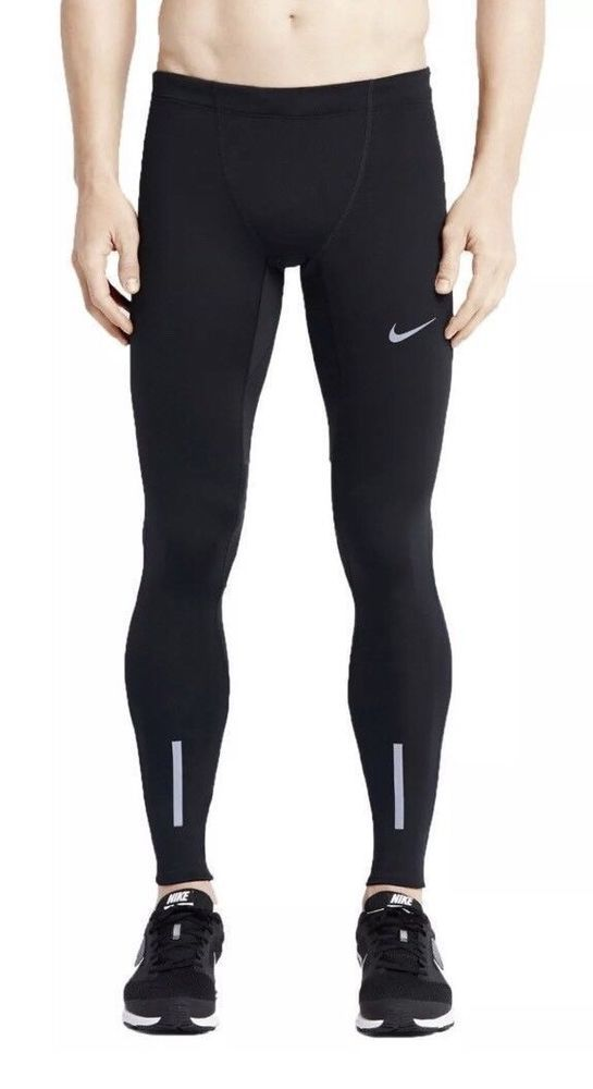 34989f59db63 Nike Men s Power Tech Dri Fit Running Tights NEW 934097 010 Black Size  Medium  Nike  BaseLayers