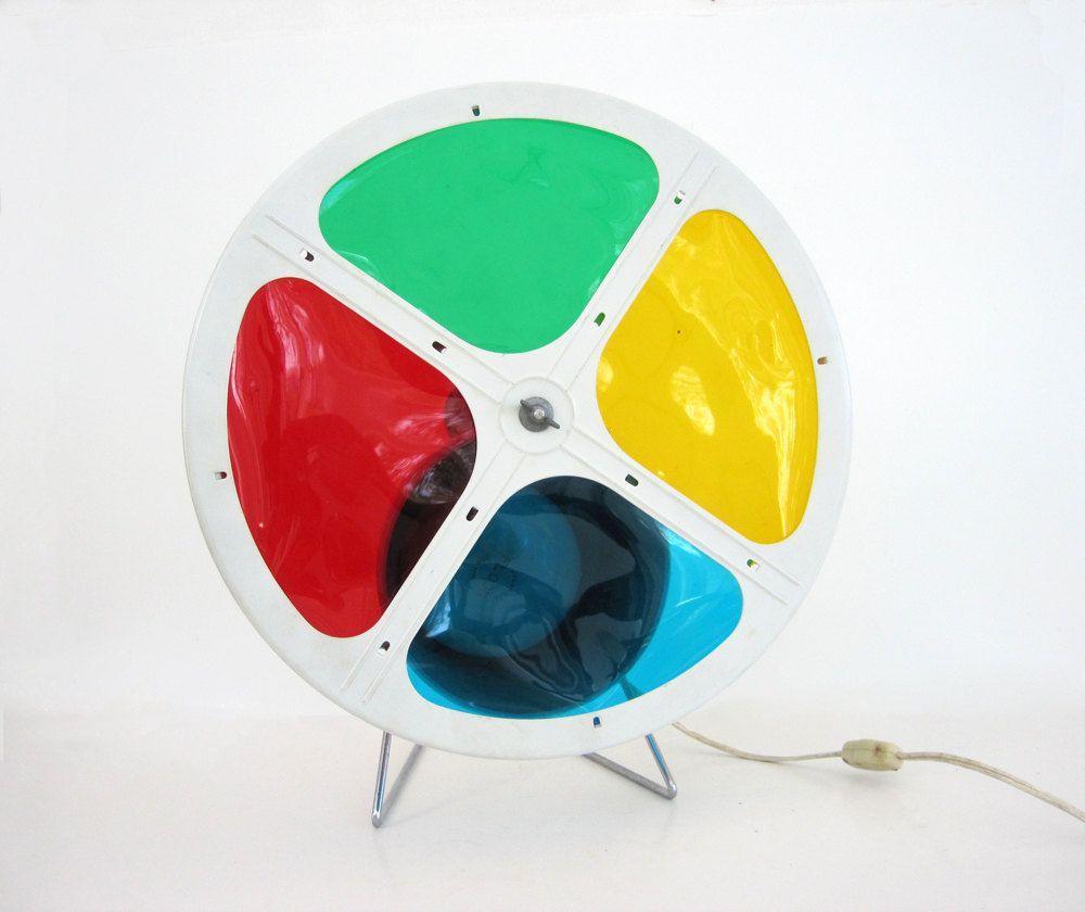 Vintage Christmas Tree Color Wheel Rotating Spinning Aluminum Xmas