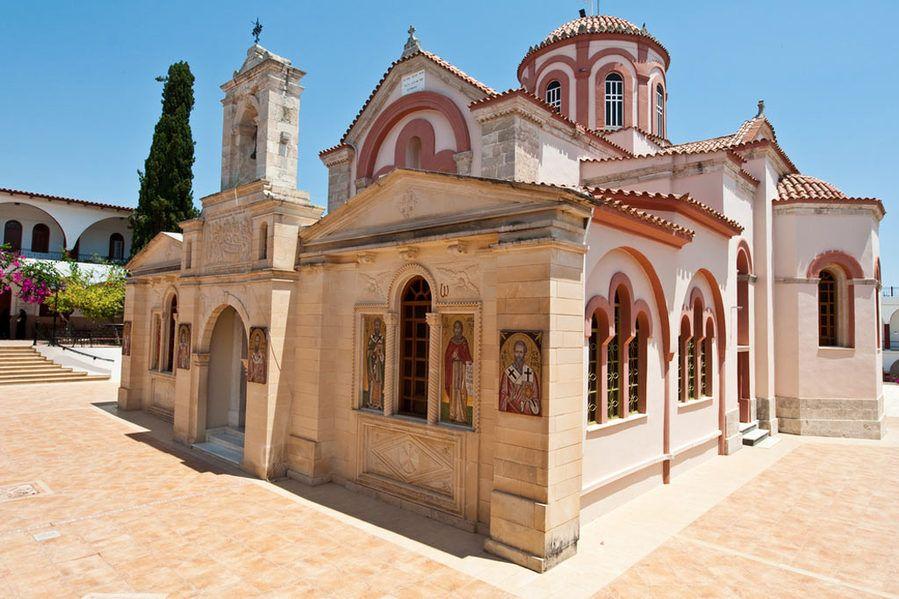 Monastery of Panagia Kaliviani, Crete, Greece.