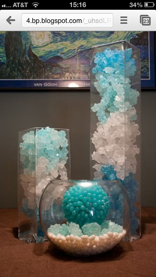 Rock Candy In A Vase Centerpiece Early Birthday Ideas For Alyssa Pinterest Vase