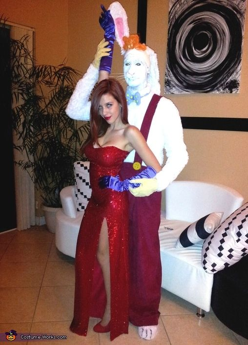 Jessica and Roger Rabbit - Halloween Costume Contest via @costumeworks  sc 1 st  Pinterest : halloween costumes jessica rabbit  - Germanpascual.Com
