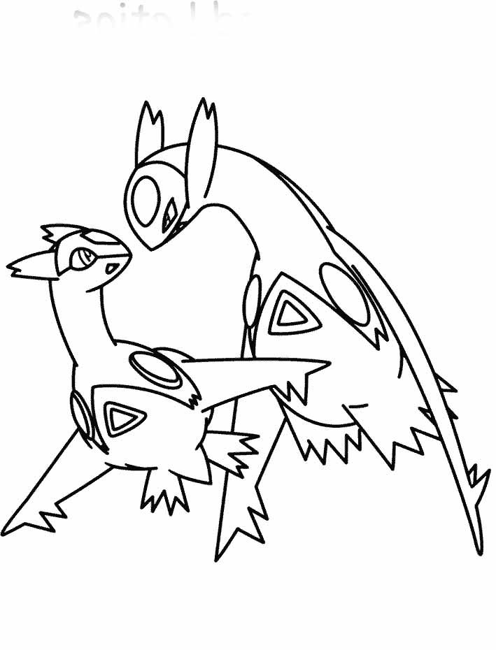 Pokemon Latias And Latios Coloring Page Pokemon Coloring Pages