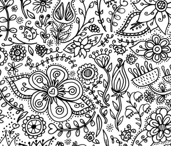 Coloring Page Wallpaper for Kids | Spoonflower, Wallpaper and Walls