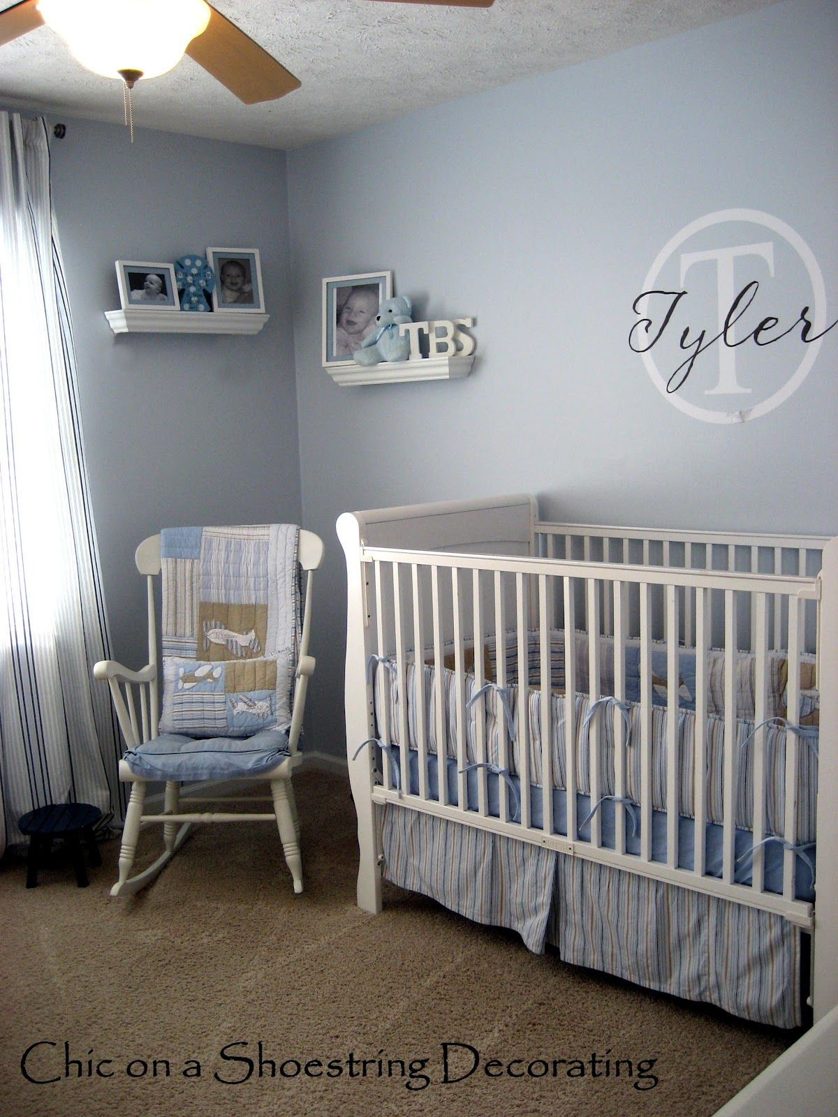Chic On A Shoestring Decorating My Boy S Nursery Tour Baby Room Set Bedroom Decor On A Budget Bedroom Decor