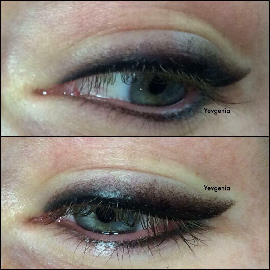 ' Smokey eyeliner ' eski ve kötüleşmiş kalıcı makyaj