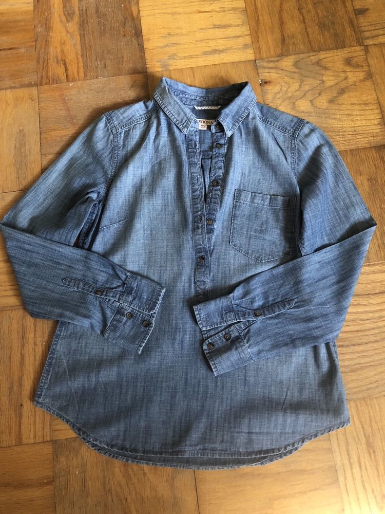 be7c9454a51 Merona Women s M Chambray Blue Button Shirt Long Sleeve  fashion  clothing   shoes  accessories  womensclothing  tops (ebay link)