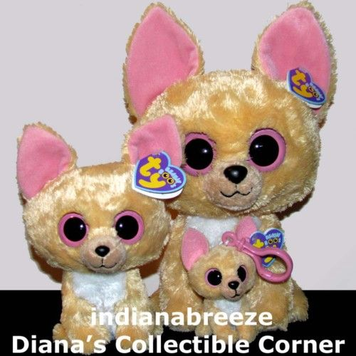 7f0000b1bbd Set of Nacho Chihuahua Dogs Ty Beanie Baby Boos Large 10