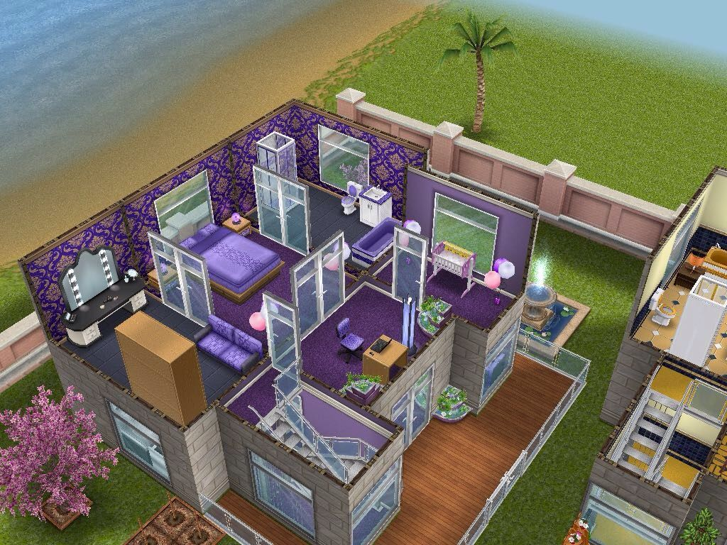 House 60 rainbow community (purple house level 2) #sims #simsfreeplay #simshousedesign