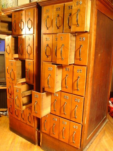 40 Door Antique Apothecary Pharmacy Drug Store Industrial Medical Cabinet | eBay