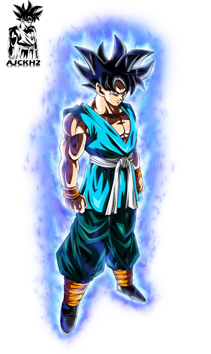 Son Goku Ultra Instinct with Aura by ajckh2.deviantart.com ...