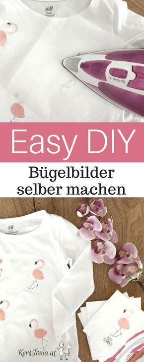Easy DIY Anleitung: Flamingo Bügelbilder einfach selber machen ...
