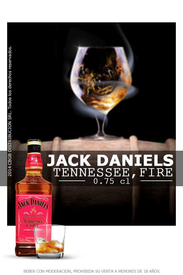 6e974e24fad24 Jack Daniel s Tennessee Fire. Es mezcla de licor de canela con Jack Daniel´s