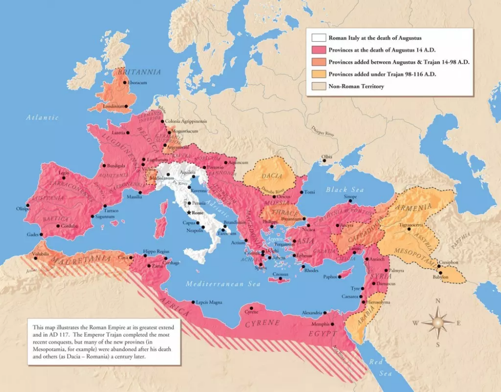 Roman Empire Map At Its Height, Over Time - Istanbul Clues ...