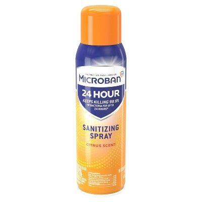 Microban 24 Hour Disinfectant Sanitizing Spray Citrus Scent 15 Fl Oz In 2020 Citrus Scent Disinfectant Spray Sugar Scrub Diy