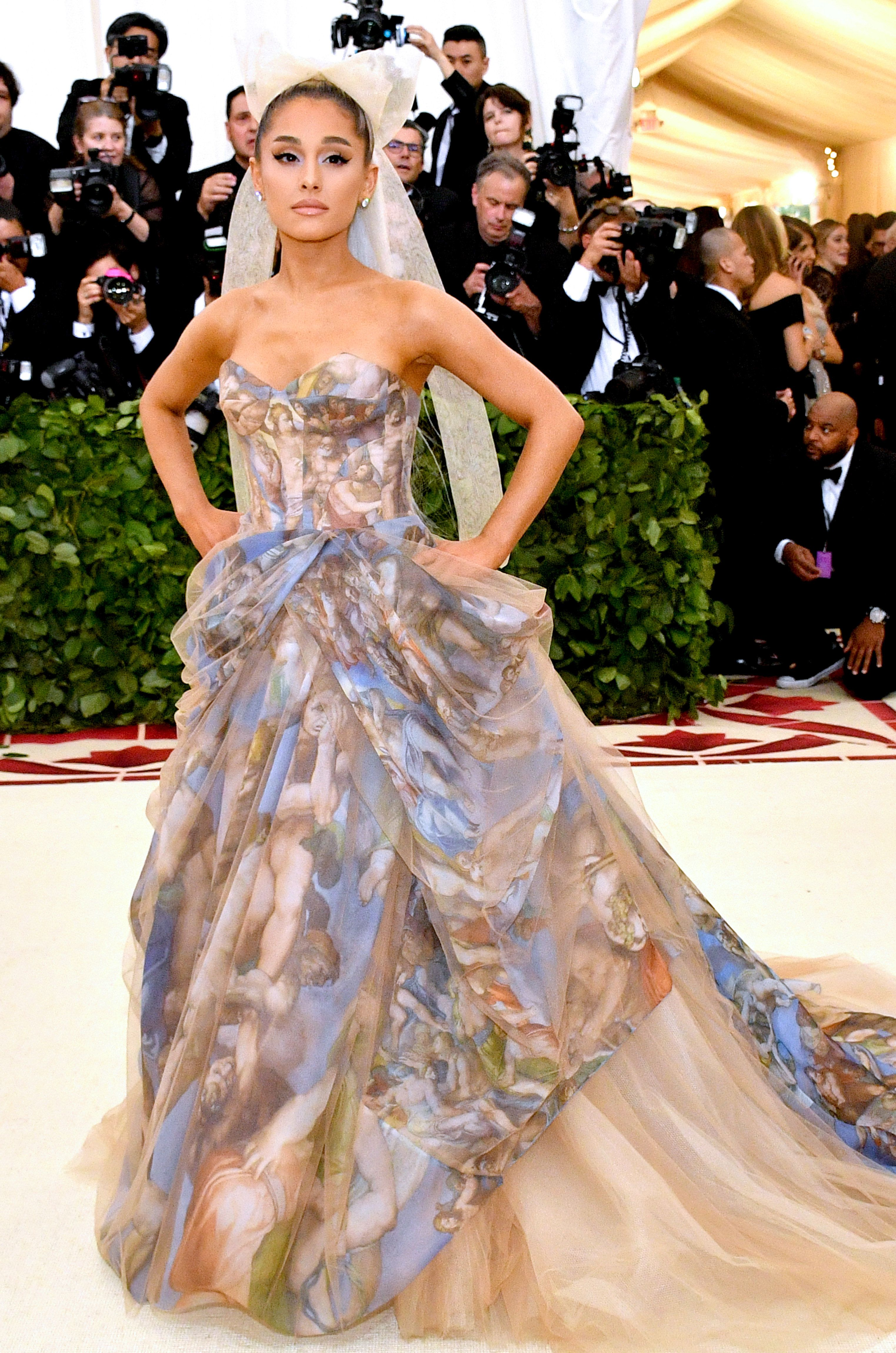 cff04e09799b Ariana Grande in a Vera Wang gown at the MET Gala