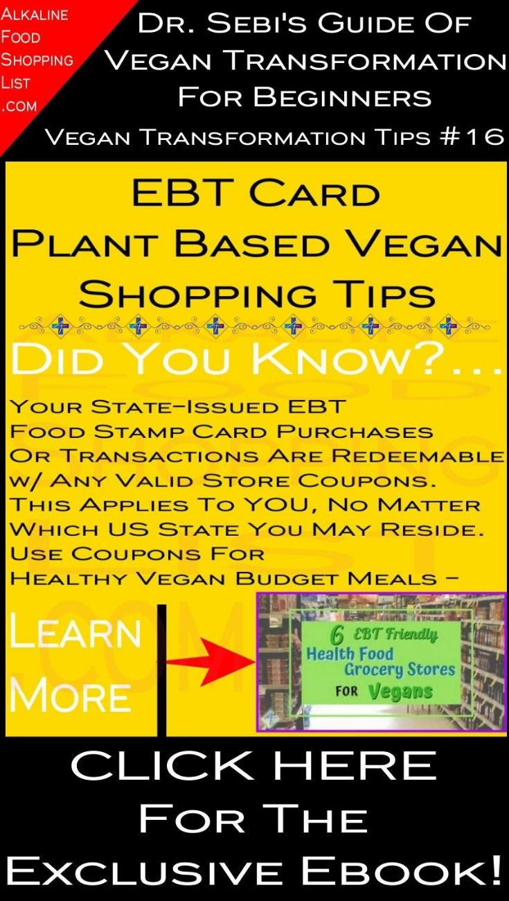 6 health food grocery stores that take ebt for vegans