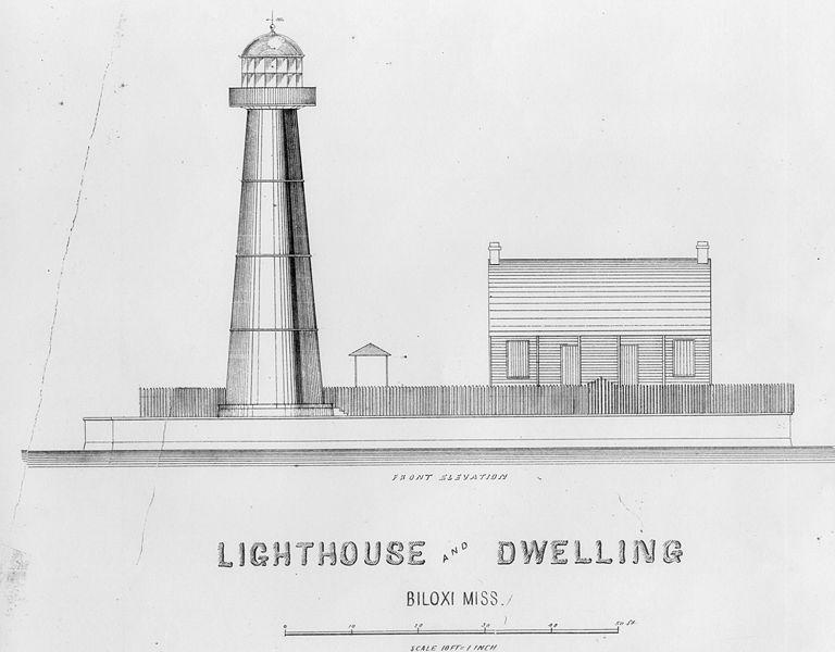 Biloxi Lighthouse Drawing