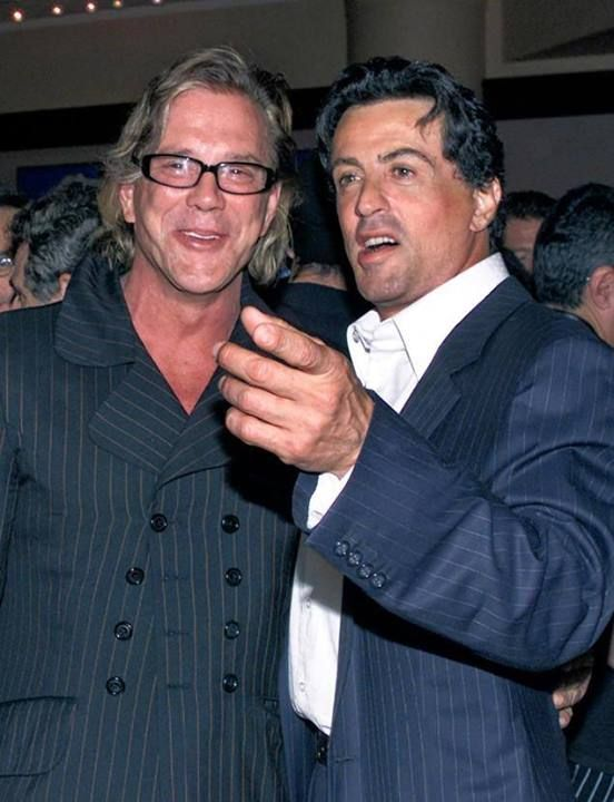 Sly Stallone, Sylvester Stallone, 90s, firends, Mickey Rourke, talk, Sylvester Stallone