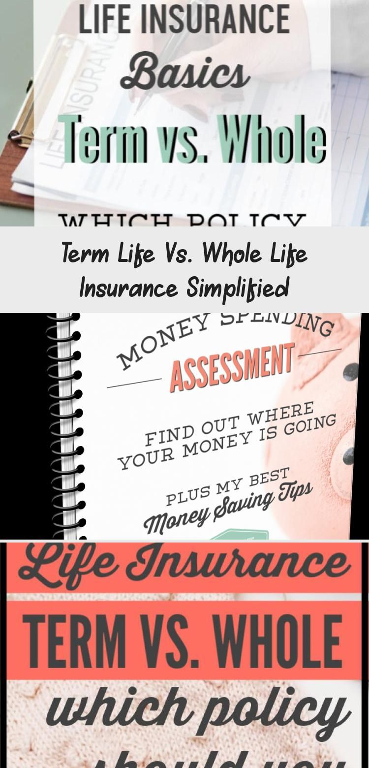 Term Life Vs Whole Life Insurance Simplified In 2020 Term Life Whole Life Insurance Life Insurance Policy