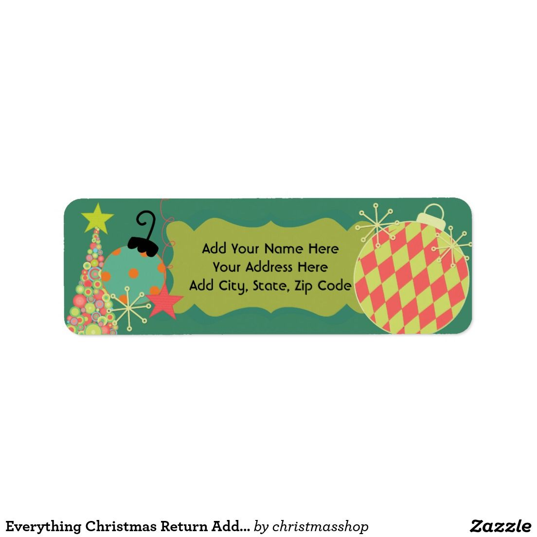 merry christmas address labels beach christmas address label