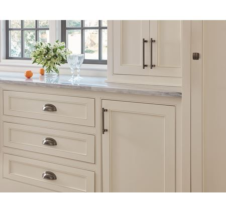 Classic Hardware Brushed Satin Nickel Cabinet Hardware Bin Cup Drawer Handle Pull Trendy Farmhouse Kitchen Farmhouse Dining Room Lighting Drawer Pulls