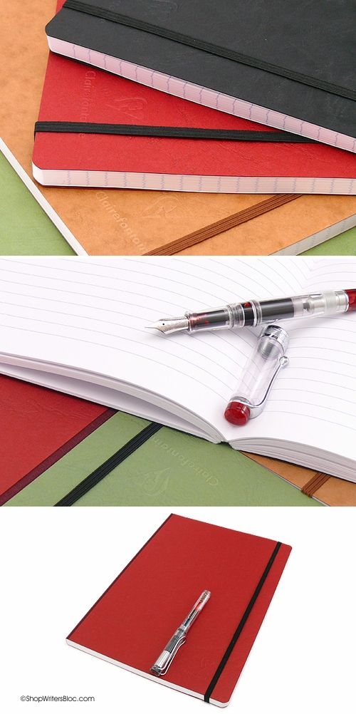 Clairefontaine Fountain Pen Paper Cloth-Bound Notebook