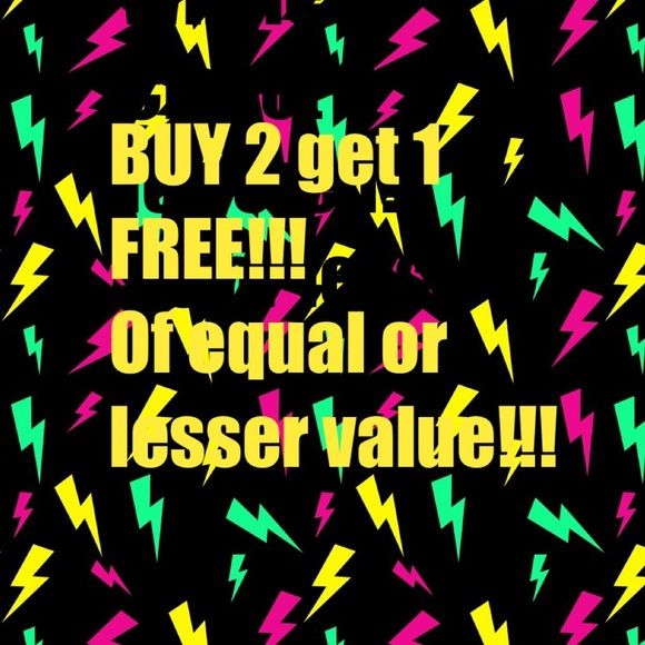 BUY 2 GET 1 FREE!! Equal or lesser value!! Help me, Help you! What a steal!!!  Other