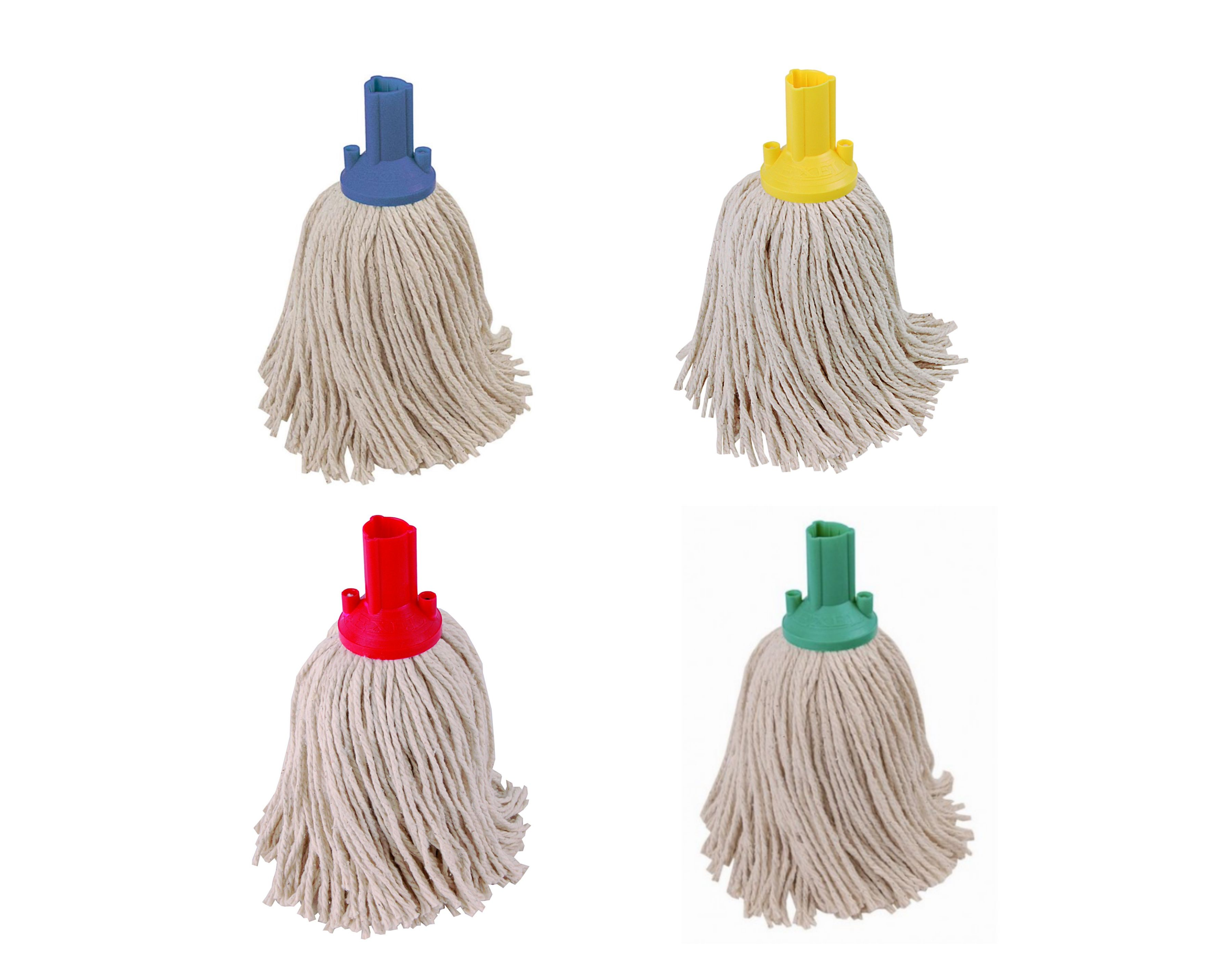 Socket Mop Head | Colour Coded | Blue | Yellow | Red | Green | Floor ...