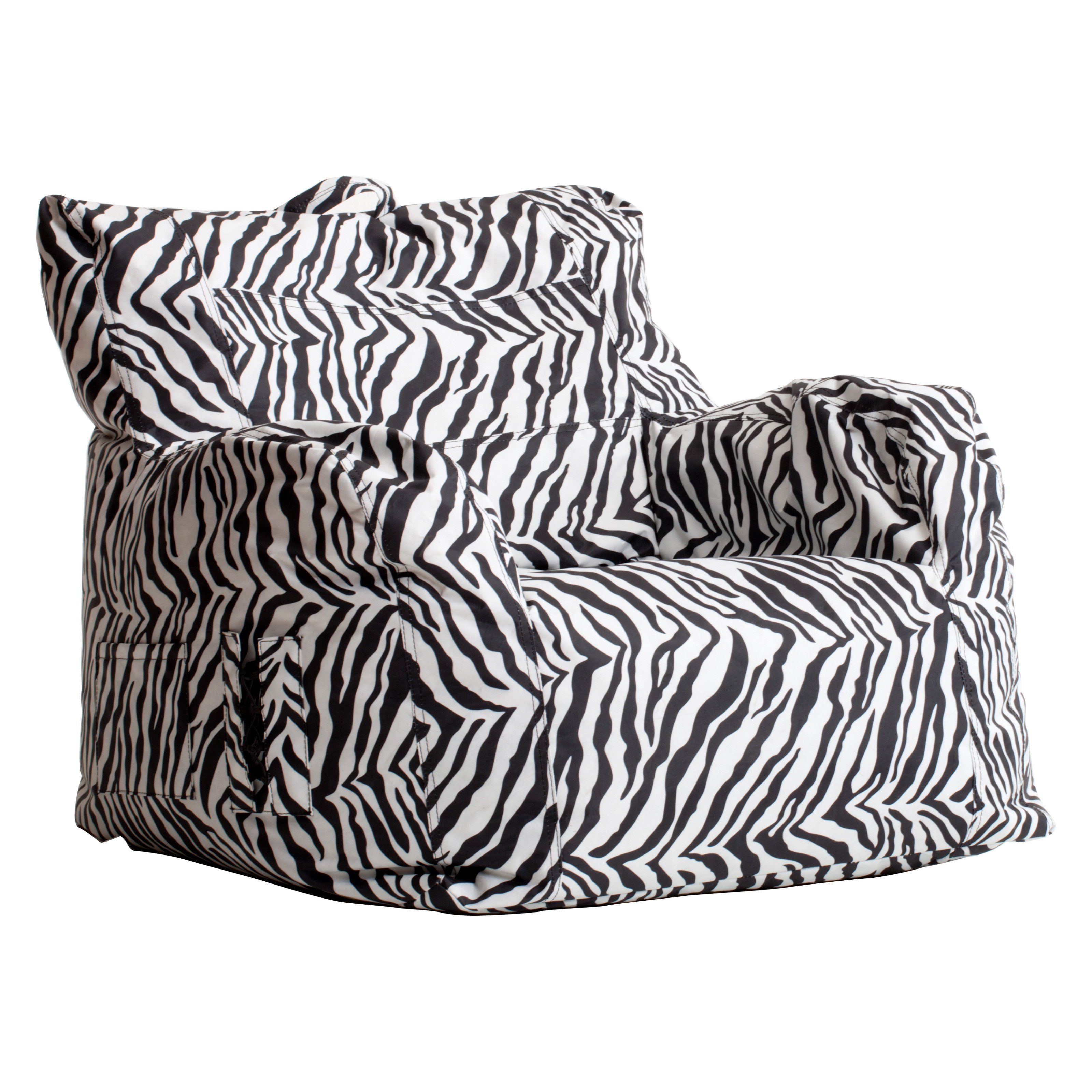 Big Joe Dorm Bean Bag Chair Zebra Bean bag chair, Dorm