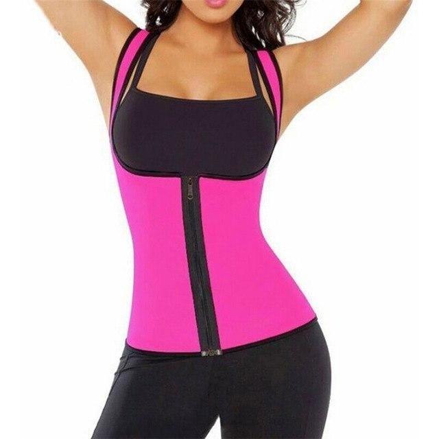 d87432384 Hot Shaper With Zipper Womens Neoprene Body Shaper Waist Trainer Slimming  Waist Slim Belt Shapewear Vest Underbust