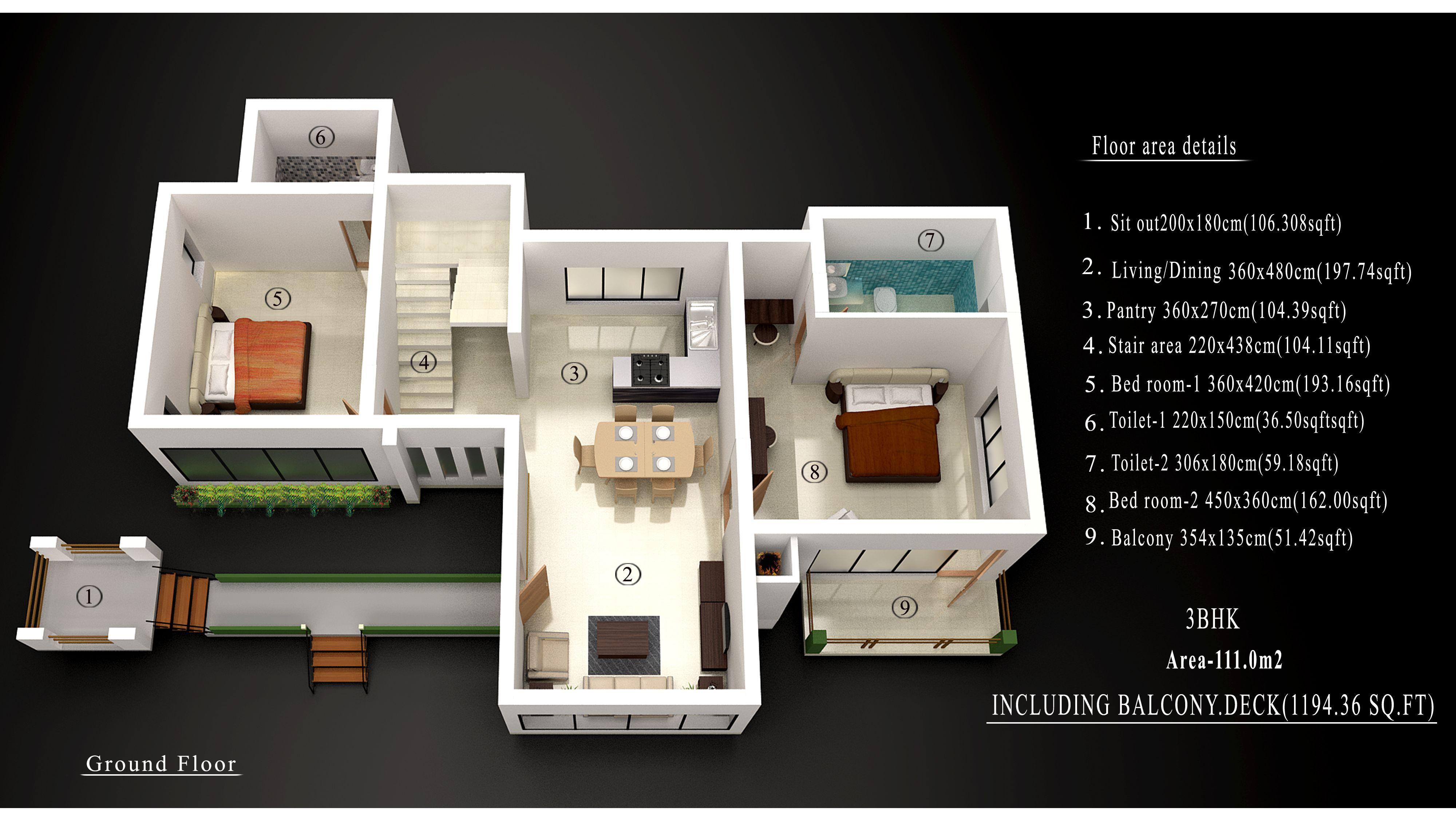 Brook Dale 3 Bhk Ground Floor Plan Cost Minimum 10 Cent Land Villa Rs 61 34 000 Holiday Village Ground Floor Plan Villa